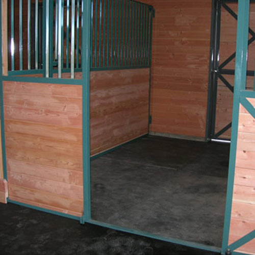 Straight Edge Rubber Pebble Top Horse Stall Mats Gym