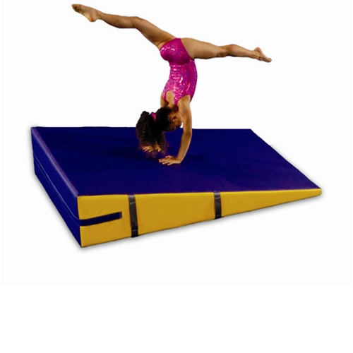 Incline Wedge Non-Folding 36 x 72 x 16 high showing gymnast.