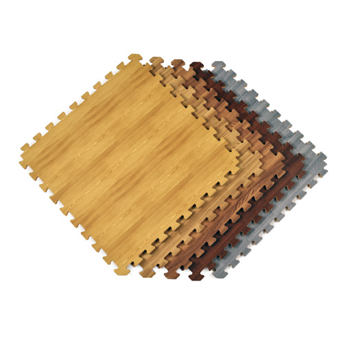 Interlocking Floor Tiles Foam Mat Wood Reversible Light Tile