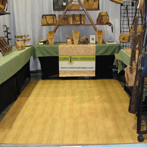 Wood Grain Reversible Foam Floor robert cork tree tradeshow.
