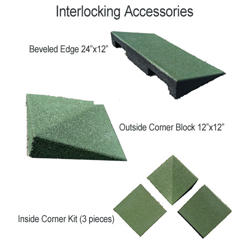 Interlocking Playground Tiles BB interlock accessories.