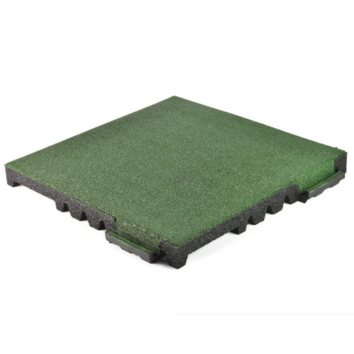 Interlocking Playground Tile BB 2.5 Inch Colors full angled.