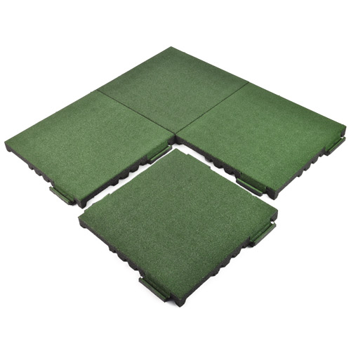 Rubber Bounce Back Interlocking Playground Tiles
