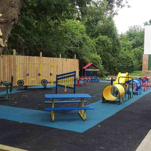 Outdoor Rubber Playground Tiles Mats