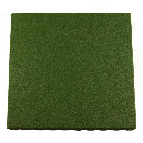Bounce Back Rubber Playground Mats All Sizes showing one green tile.