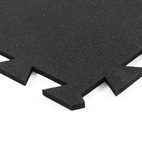 Geneva Rubber Tile 1/2 Inch Black Corner.