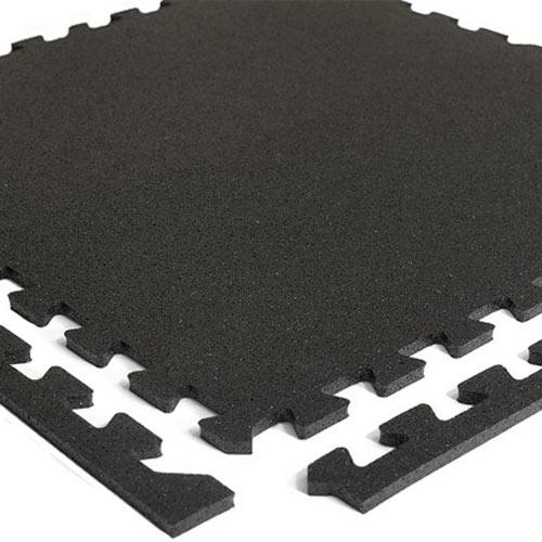 Interlocking 1/4 Inch Rubber Floor Tile - Home Gym Flooring