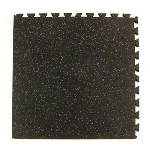 Geneva Rubber Tile 3/8 Inch 10% Color corner tile.