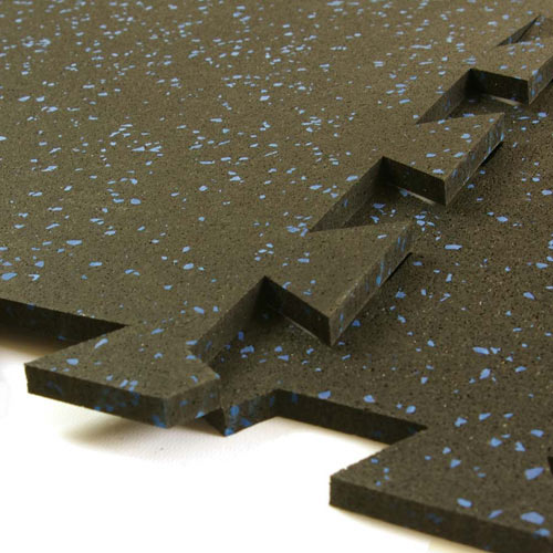 Geneva Rubber 3/8 Inch 10% Color Interlocking Tile.
