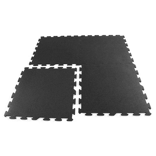 Interlocking Black Rubber Floor Tiles Gym Flooring