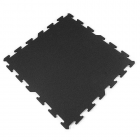Interlocking Rubber Tile 2x2 Ft x 8 mm Black