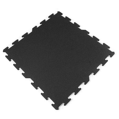 Interlocking Rubber Tile 2x2 Ft X 8 Mm Black.