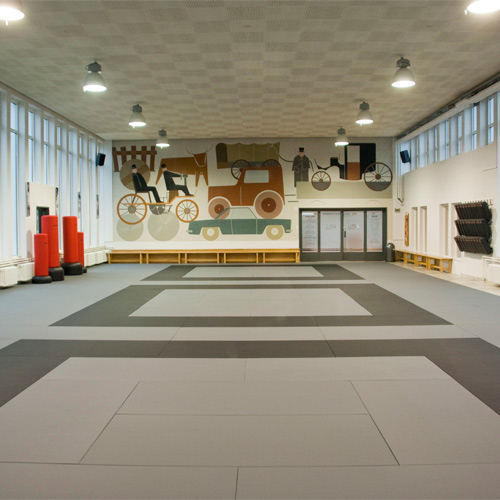 Elegant Judo Mats Tatami 1x2 Meter 1.5 Inch Gray Dojo
