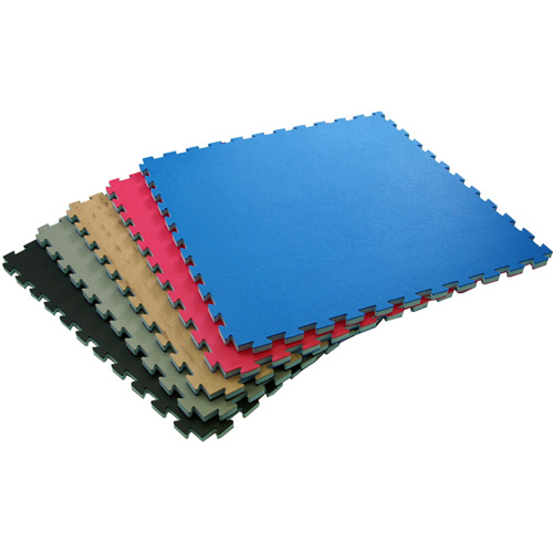Karate Mats showing stack of full tiles.