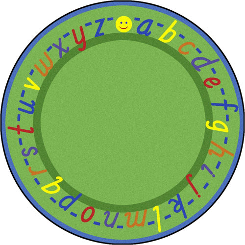 Alphascript 7 feet 7 inches green oval