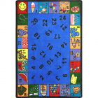 Count On Me Kids Rug 5 feet 4 inches x 7 feet 8 inches