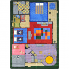 Creative Play House Kids Rug 3 feet 10 inches x 5 feet 4 inches