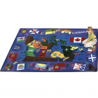 Flags of Canada Kids Rug 5 feet 4 inches x 7 feet 8 inches