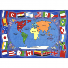 Flags Of The World Kids Rug 5 feet 4 inches x 7 feet 8 inches