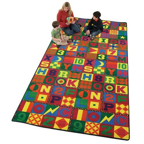 Floors That Teach 12x9 Ft Colorful