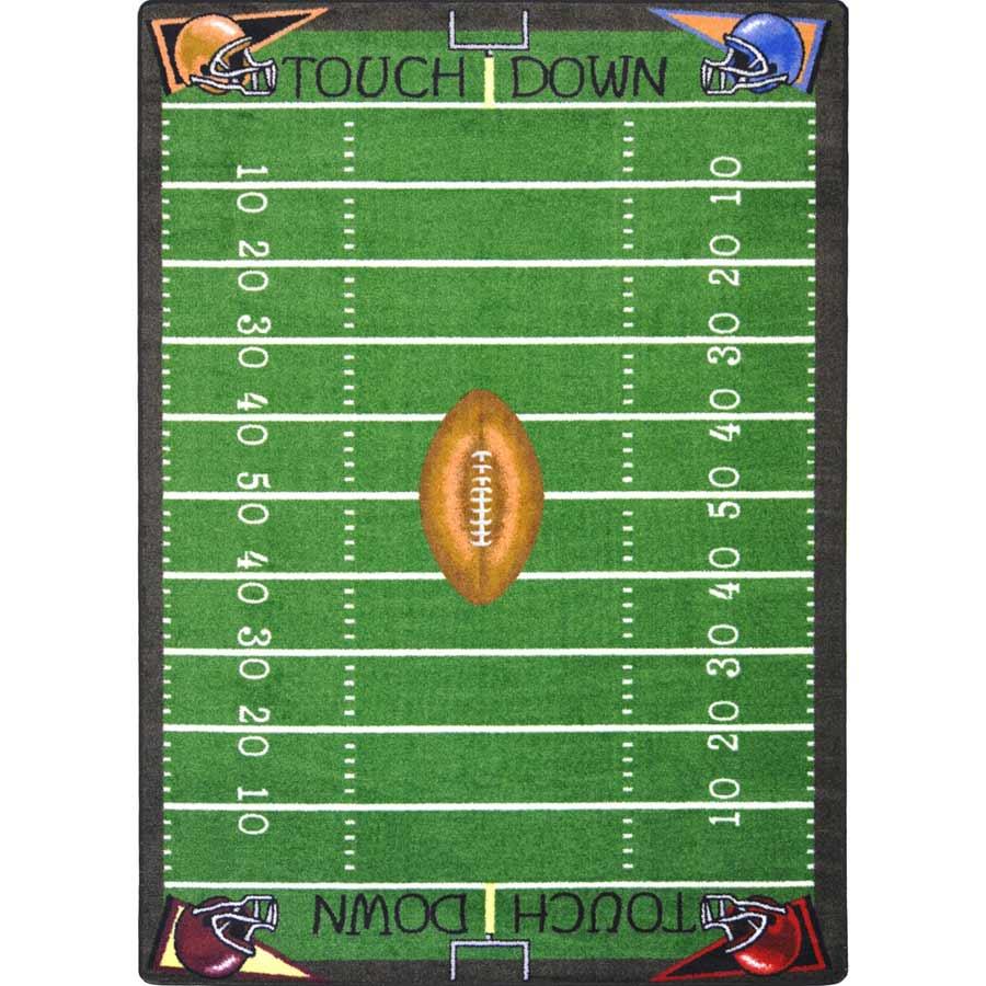 Football Fun Kids Rug 3 Ft 10 In X 5