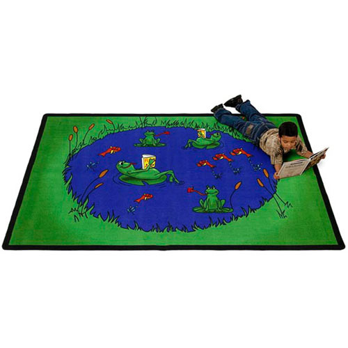 Frogs Kids Rug 6 x 9 feet
