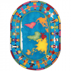 Hands Around The World Kids Rug 5 feet 4 inches x 7 feet 8 inches