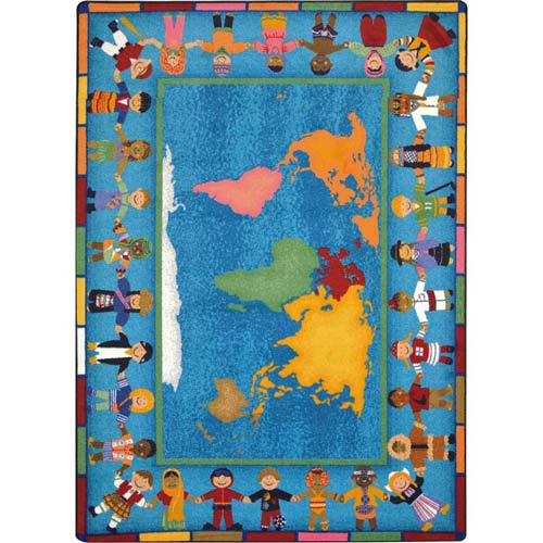 Hands Around The World 5 Feet 4 Inches X 7 8 Rectangle