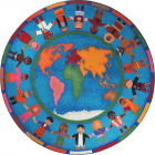 Hands Around The World Kids Rug 7 feet 7 inches