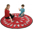 Hands That Teach Kids Rug 6 feet Round
