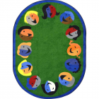 Joyful Faces Kids Rug 7 feet 8 inches x 10 feet 9 inches