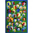 Joyful Faces Kids Rug 3 feet 10 inches x 5 feet 4 inches