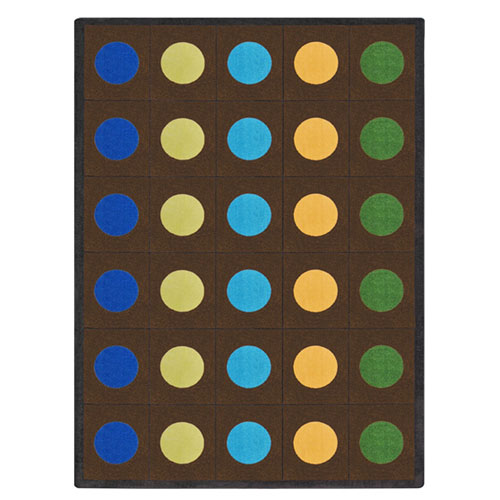 Lots Of Dots 5 feet 4 inches x 7 feet 8 inches rectangle earthtone