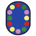 Lots Of Dots Kids Rug 5 feet 4 inches x 7 feet 8 inches