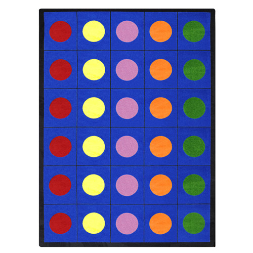 Lots Of Dots 7 feet 8 inches x 10 feet 9 inches rectangle