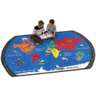 Maps That Teach Kids Rug 6 x 9 feet thumbnail