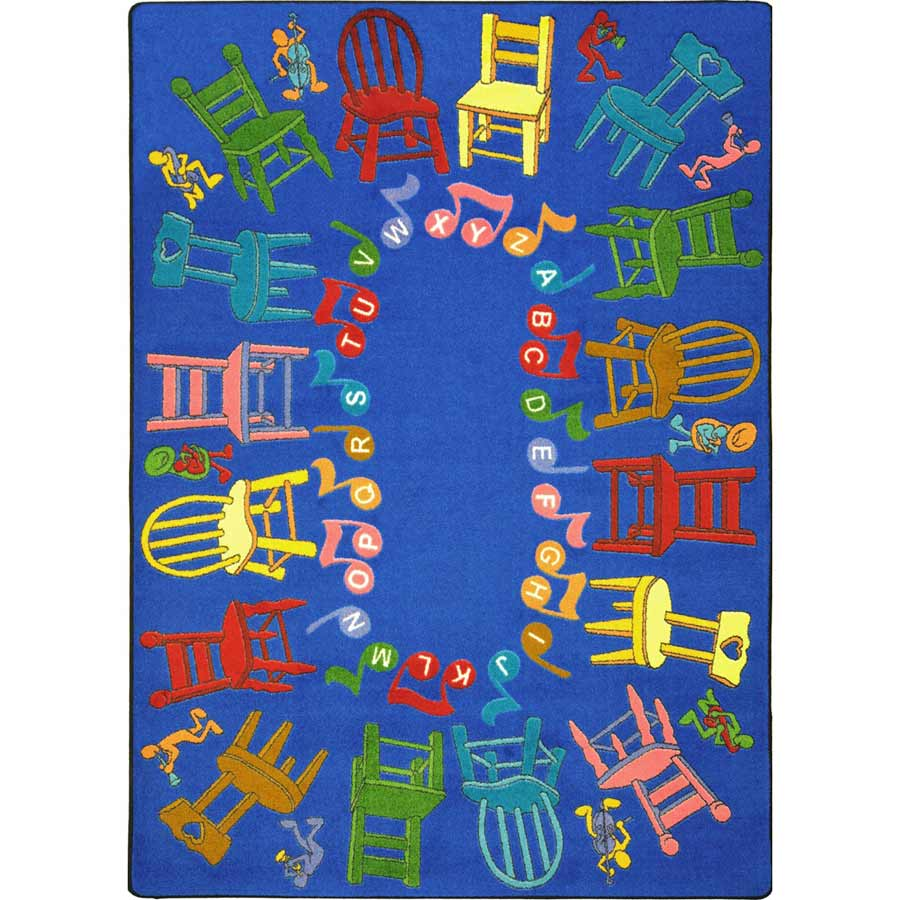 Musical Chairs 5 feet 4 inches x 7 feet 8 inches
