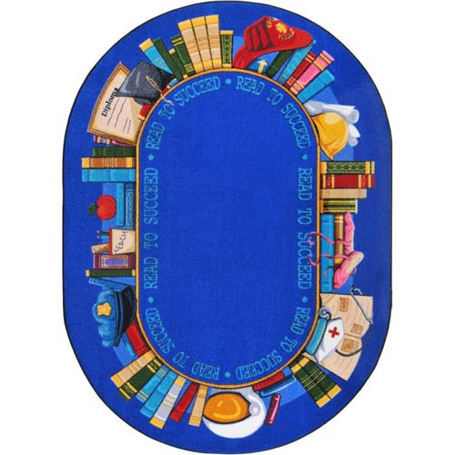 Read To Succeed 5 feet 4 inches x 7 feet 8 inches oval