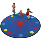 Shapes Galore Kids Rug 8 feet Round