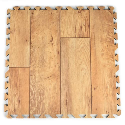 Rustic Wood Grain Foam Tiles - Trade Show Wood Floors