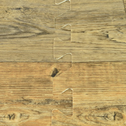 Rustic Wood Grain Foam Tile interlock connection. - Rustic Wood Grain Foam Tiles - Trade Show Wood Floors