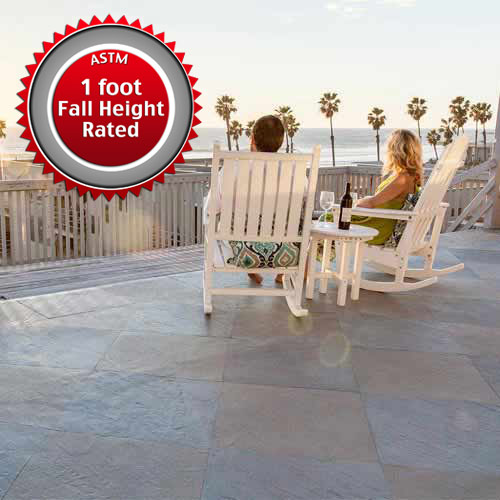 Safe Life Floor Slate Deck Tiles 3 8 In