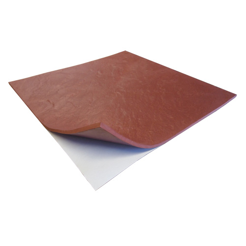 Life Floor Super Grip Ripple Tiles 3/8 Inch Peel and Stick terra cotta.