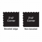 Rubberlock 1/2 Inch 2x2 Ft Corner Black