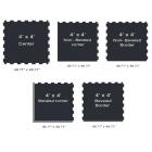Rubberlock 1/2 Inch Black 4x4 Ft