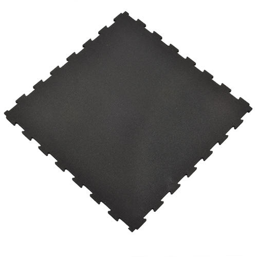 Rubber Tile Diamond 2x2 Ft 3/8 Inch Black angled.