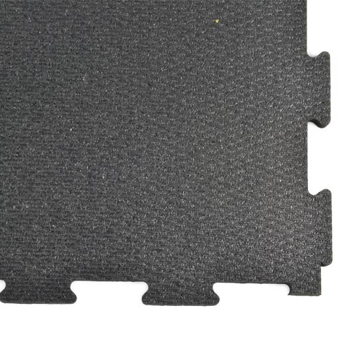 Rubber Tile Diamond 2x2 Ft 3/8 Inch Black close corner.
