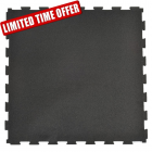 Rubber Tile Diamond 2x2 Ft 3/8 Inch Black thumbnail