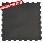Rubber Tile Diamond 2x2 Ft 3/8 Inch Black