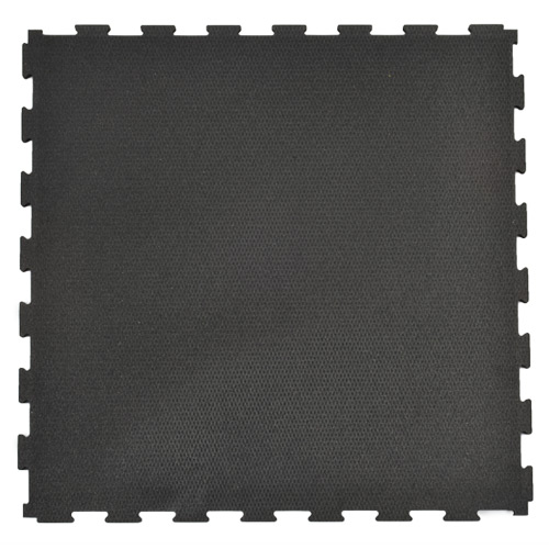 Rubberlock 2x2 ft 1/2 Inch black no bevel tile.